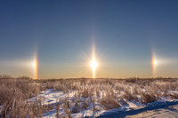 Sun dogs, -28 degrees
